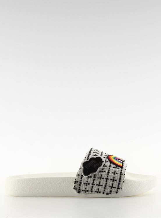 Klapki z przypinkami 8228 WHITE