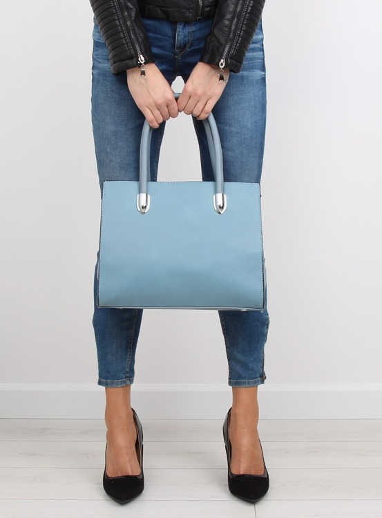 Klasyczna torebka damska niebieska TB-S-51 Niebieski