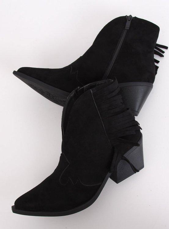 Kowbojki damskie czarne NC999 BLACK
