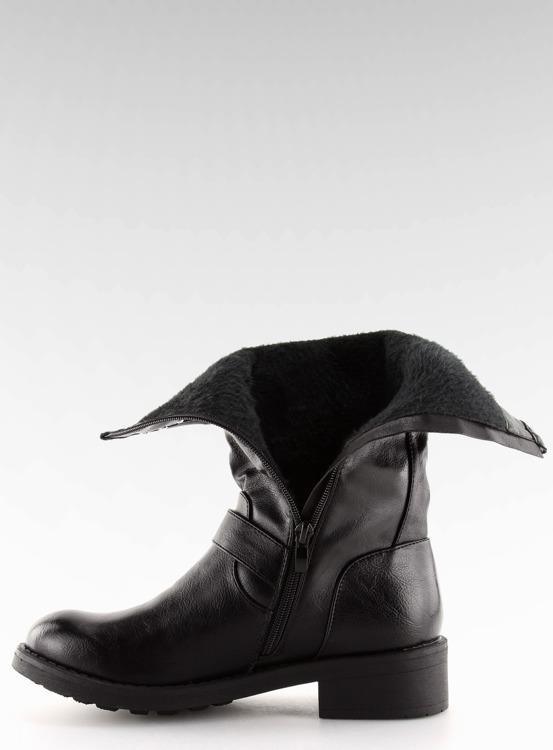 Kozaki damskie czarne 7317-PG BLACK