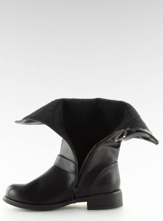 Kozaki damskie czarne JW19 BLACK