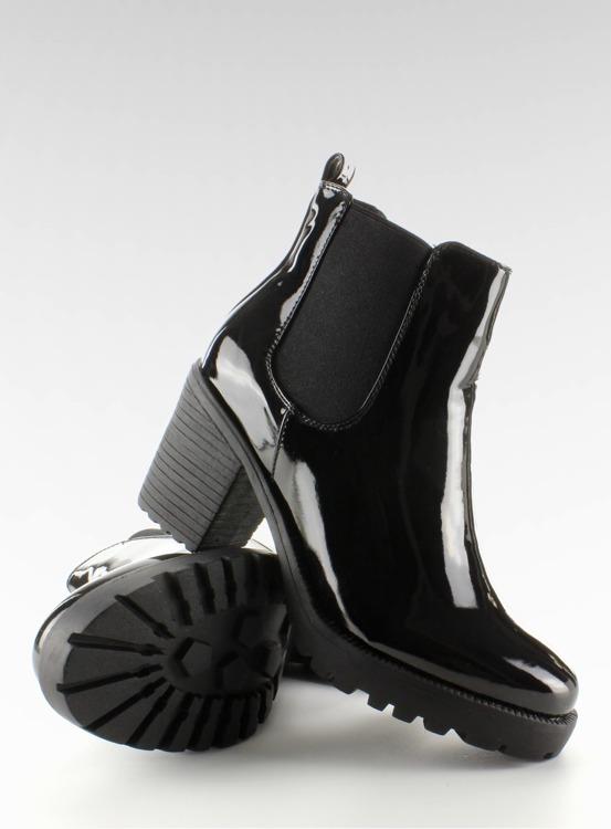 Lakierowane vagabondy sztyblety KA-782P-3 Black