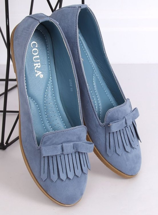 Lordsy damskie niebieskie 2358 BLUE