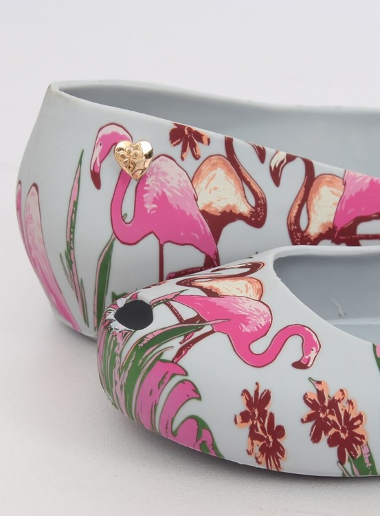 Meliski z flamingami szare CK85 GREY