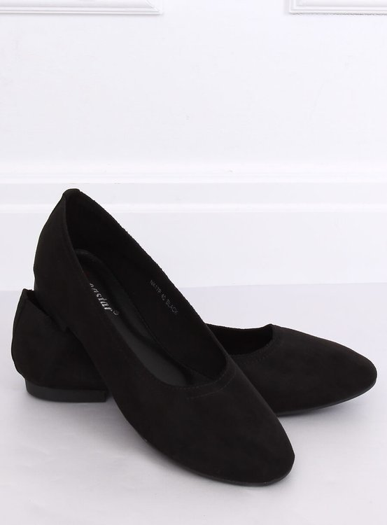 Miękkie baleriny damskie czarne NK17P BLACK