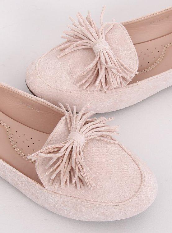 Mokasyny damskie beżowo-różowe 99-72A BEIGE