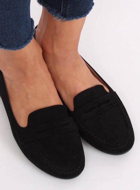 Mokasyny damskie czarne 3900 BLACK