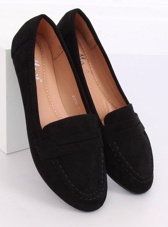 Mokasyny damskie czarne B2030 BLACK