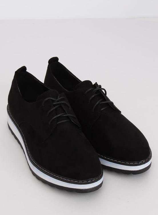 Mokasyny damskie czarne C-7225 BLACK