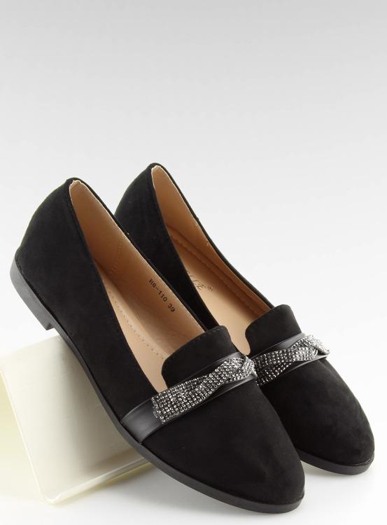 Mokasyny damskie czarne H8-110 BLACK