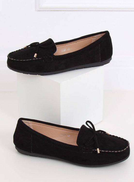 Mokasyny damskie czarne LL97 BLACK