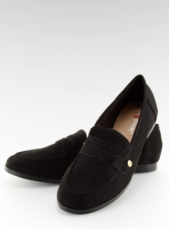 Mokasyny damskie czarne T298 BLACK