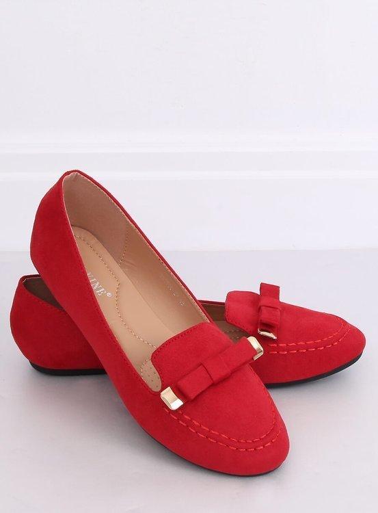 Mokasyny damskie czerwone 2S2018-27 RED