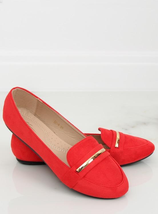 Mokasyny damskie czerwone 3C-9 RED
