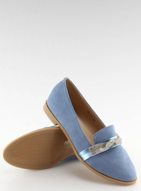 Mokasyny damskie niebieskie H8-110 BLUE