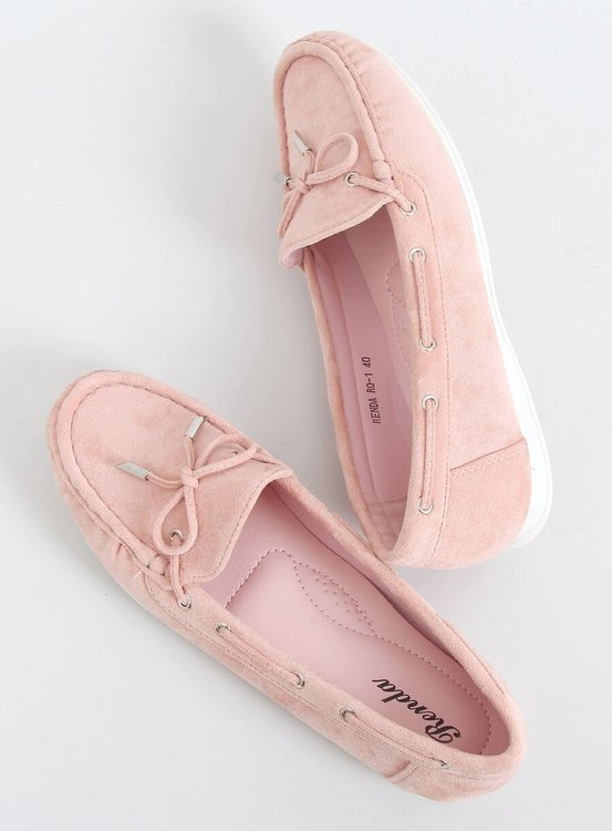Mokasyny damskie różowe RQ-1 PINK
