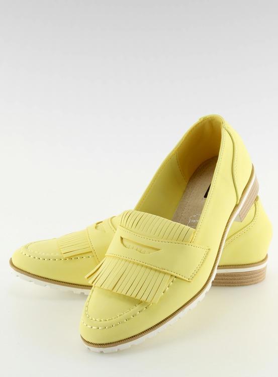 Mokasyny damskie żółte 1174 YELLOW