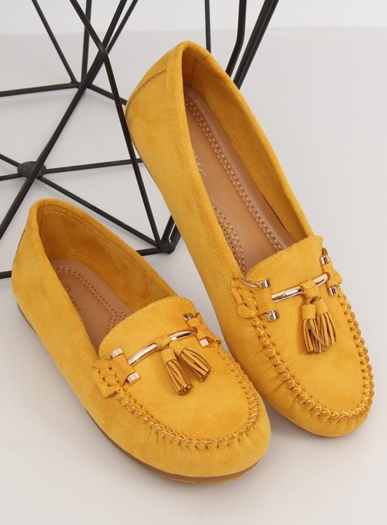 Mokasyny damskie żółte L7183 YELLOW