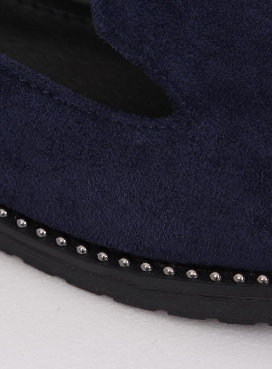 Mokasyny lordsy granatowe N90 BLUE