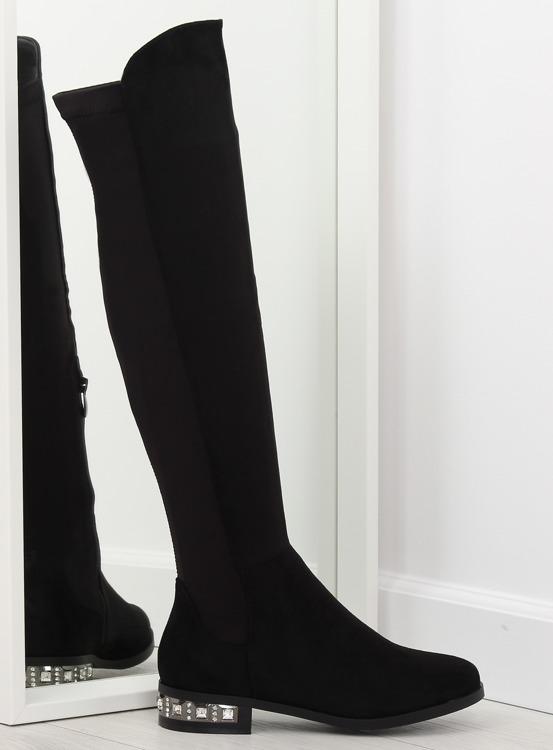 Muszkieterki damskie czarne 0-236 BLACK