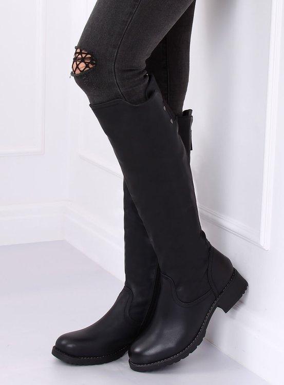 Oficerki damskie czarne Z166 BLACK