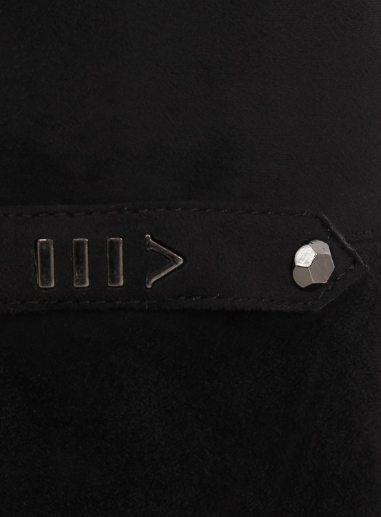 Oficerki muszkieterki czarne 7531-PG BLACK