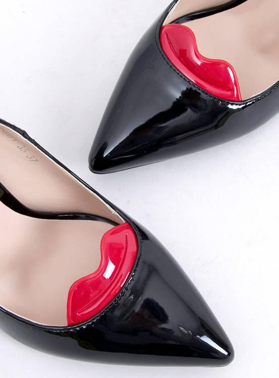 Oryginalne szpilki z ustami 5801-35es-1 Black