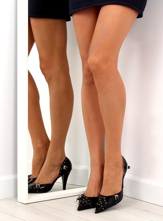 Pantofelki na obcasie 3945-11V Noir