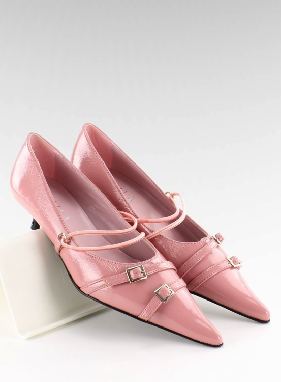 Pantofelki na obcasie PM2-10 Pink