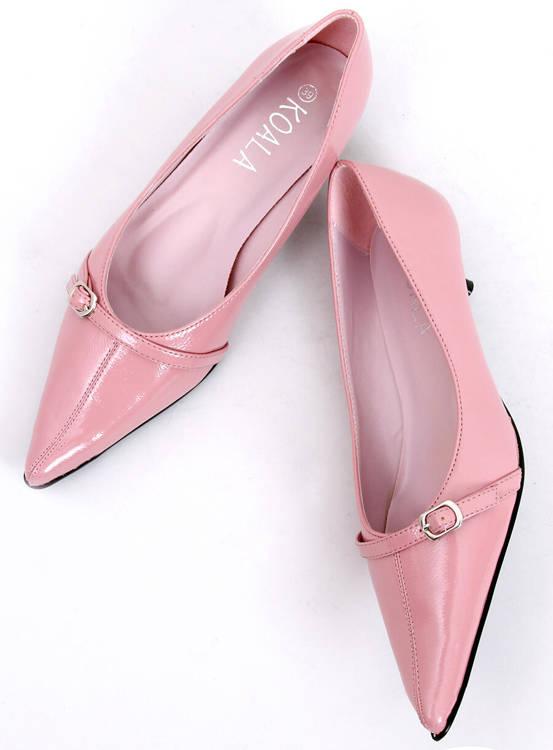 Pantofelki na obcasie PM2-18 Pink