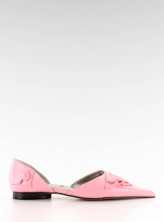 Pantoflelki z guzikami 39029-8A pink