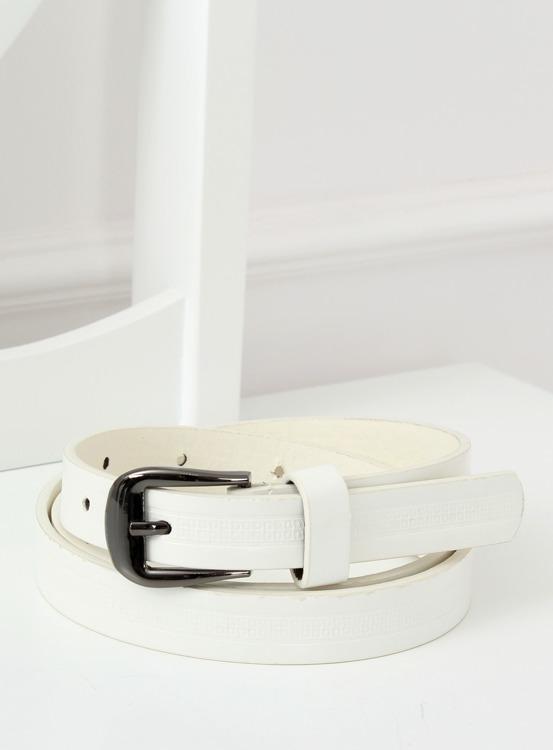 Pasek damski biały ps-sc-606 BIAŁY