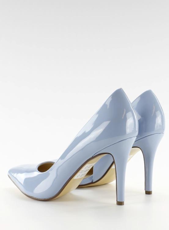 Pastelowe szpilki asymetryczne C26P Niebieski