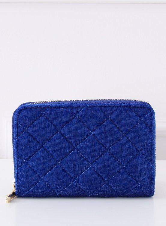 Pikowany portfel damski kobaltowy PF-2019-008 KOBALTOWY