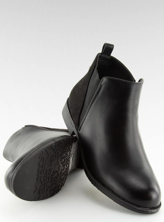 Półbuty damskie sztyblety czarne 3086 BLACK