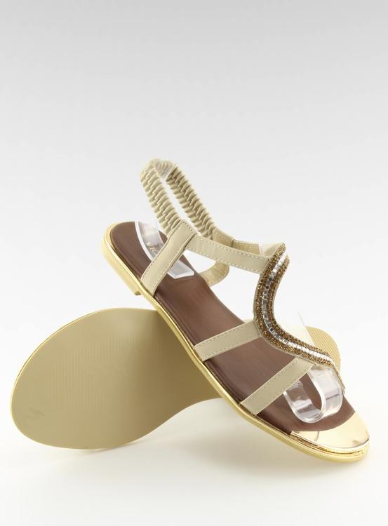 Sandałki asymetryczne beżowe 4157 BEIGE