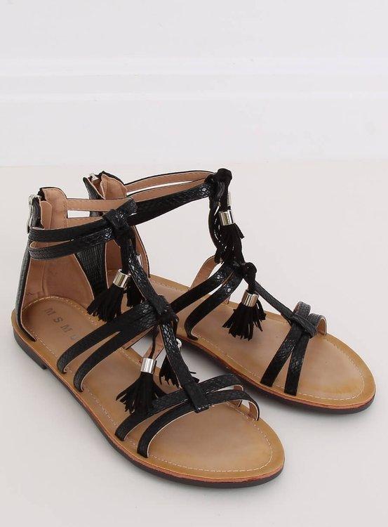 Sandałki boho czarne JN806 BLACK