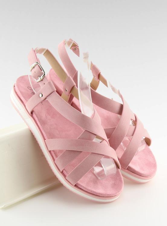 Sandałki damskie bardzo wygodne różowe 1499-20 PINK