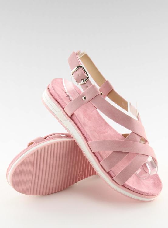Sandałki damskie bardzo wygodne różowe 1499 PINK