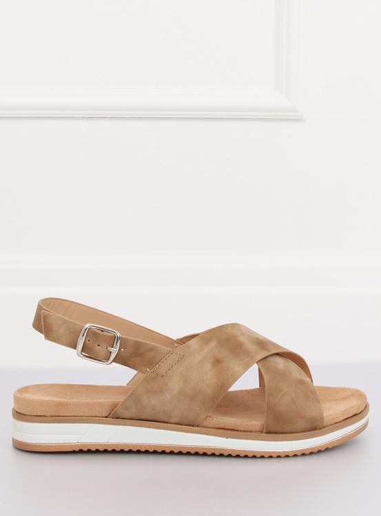 Sandałki damskie beżowe 1495 D.BEIGE