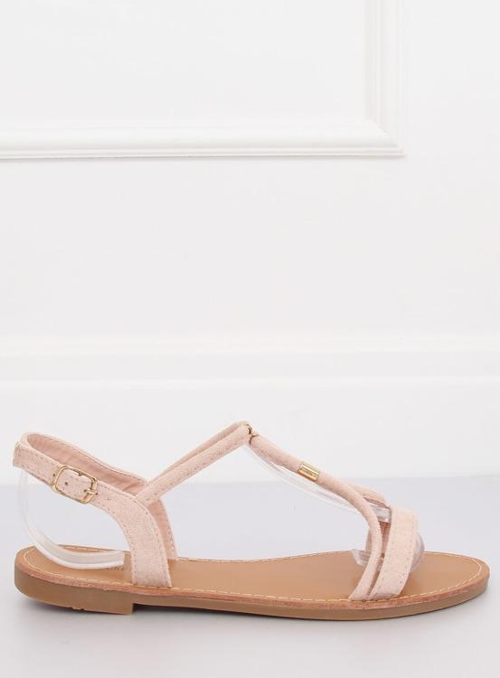 Sandałki damskie beżowe L520 BEIGE