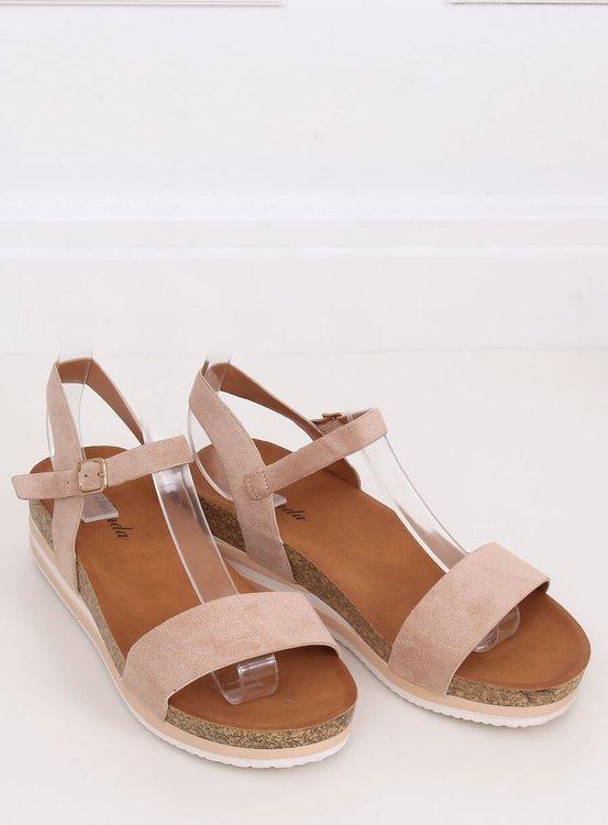 Sandałki damskie beżowe RD054 BEIGE