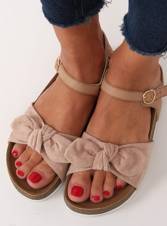 Sandałki damskie beżowe TL8-2 BEIGE