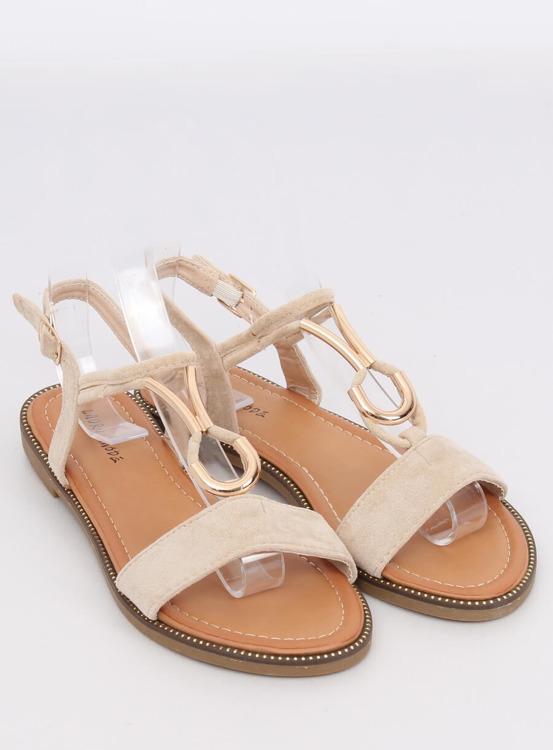 Sandałki damskie beżowe WL024 BEIGE