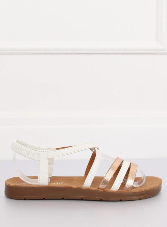 Sandałki damskie białe 2220 WHITE