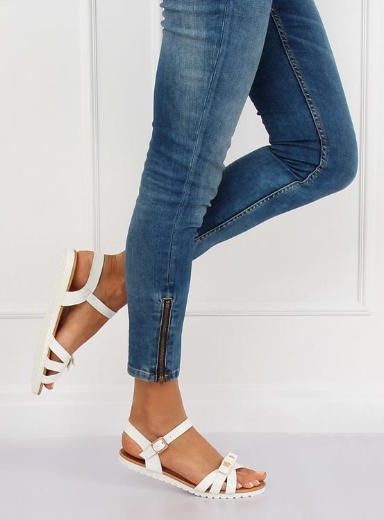Sandałki damskie białe G210 WHITE