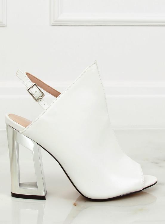 Sandałki damskie białe KSL705-9 WHITE