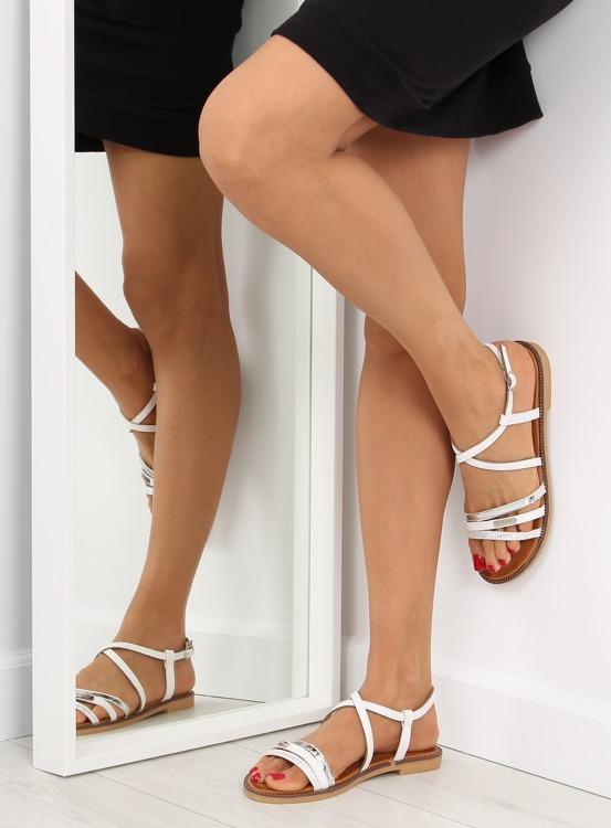 Sandałki damskie białe S57 WHITE