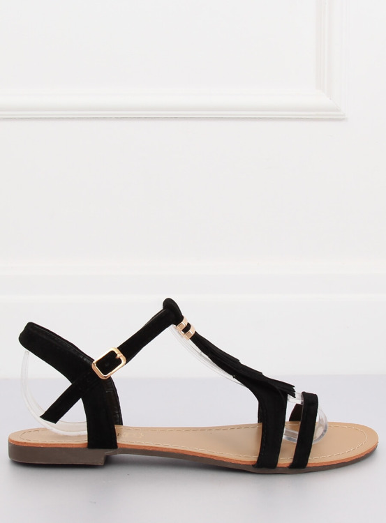 Sandałki damskie czarne 1-51 BLACK