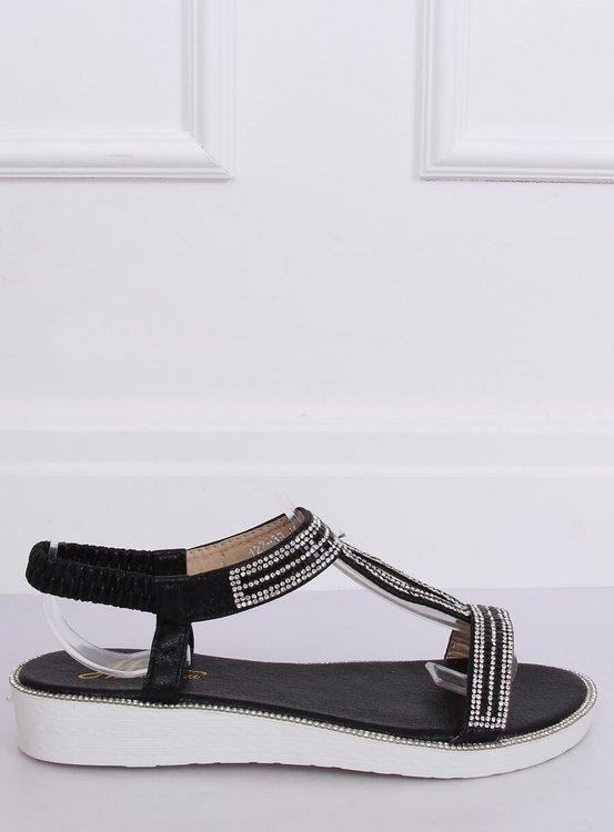 Sandałki damskie czarne 127-89 BLACK
